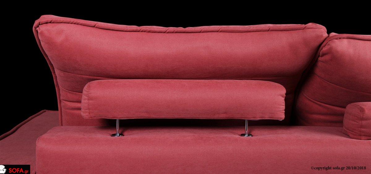 καναπές με ανάκλιση και αποσπώμενο ύφασμα