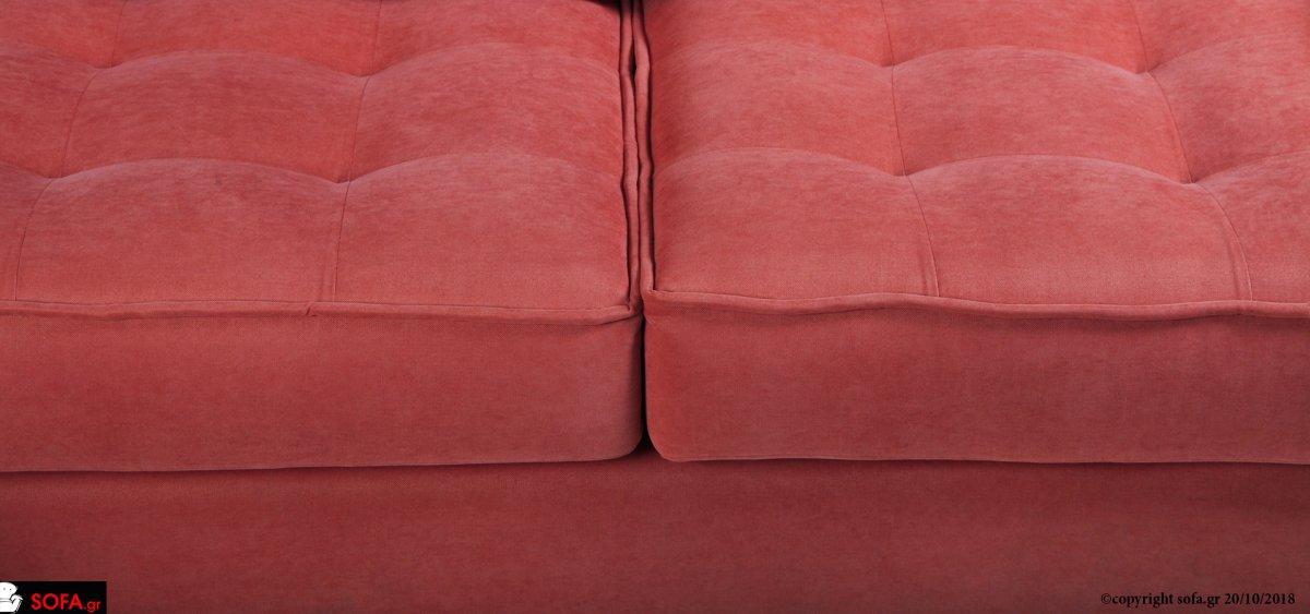 Τριθέσιος καναπές με ανάκλιση στην πλάτη και καπιτονέ κάθισμα