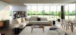 καναπές με τραπεζάκι minimal σχεδιασμός