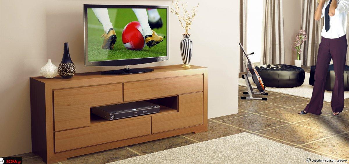 Έπιπλο τηλεόρασης με αποθηκευτικούς χώρους