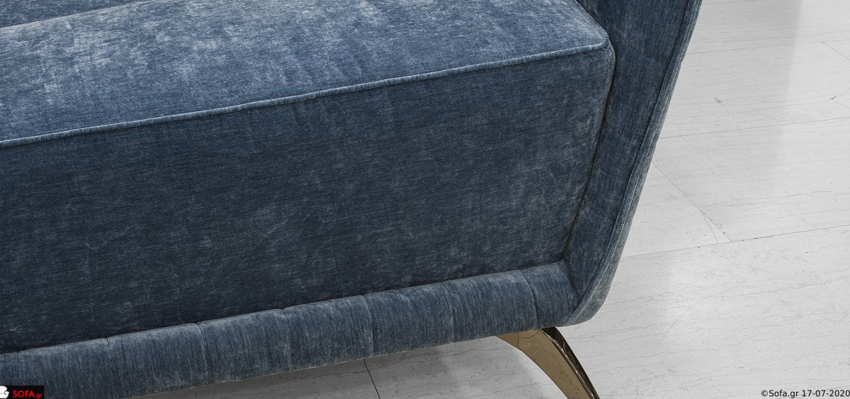 Γωνιακος καναπές με καπιτονέ πλάτη