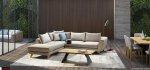 μοντέρνος καναπές με ψηλό ποδαράκι