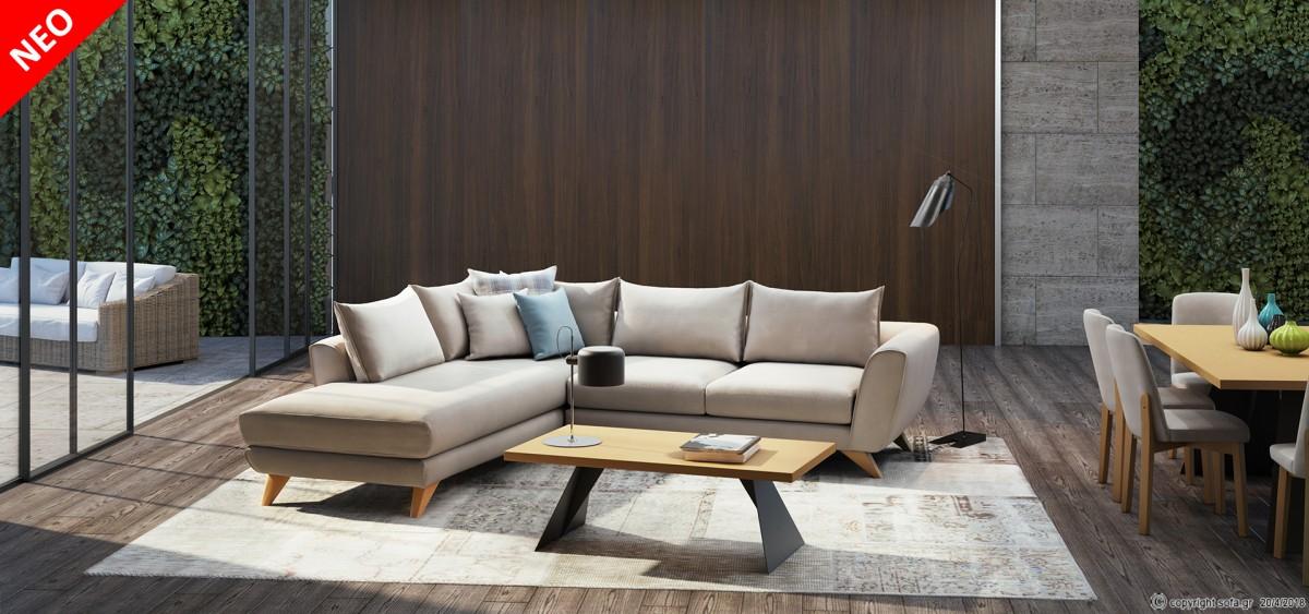 καναπές με τραπεζάκι