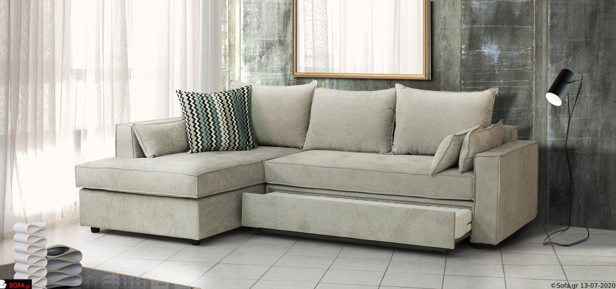 Γωνιακός καναπές - Κρεβάτι