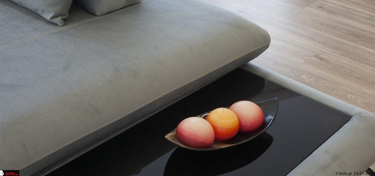 Γωνιακός καναπές με μετακινούμενα μαξιλάρια πλάτης