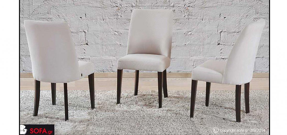 υφασμάτινη καρέκλα μασίφ οξιάς με καμπύλη αναπαυτική πλάτη