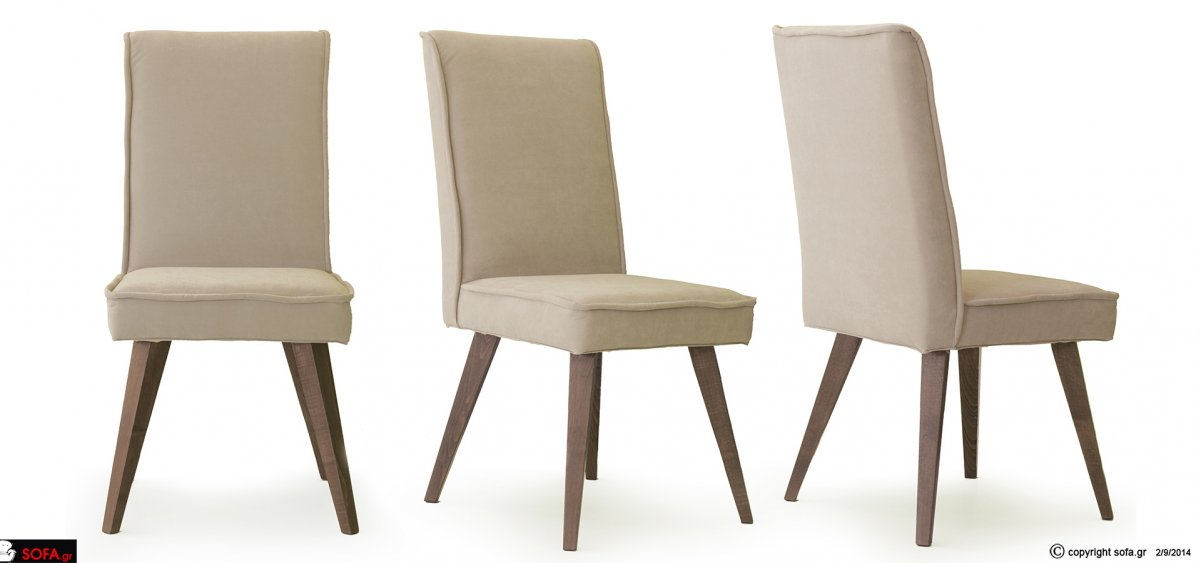 καρέκλα μασίφ οξιά με αποσπώμενο ύφασμα σε διάφορα χρώματα σε οικονομική τιμή