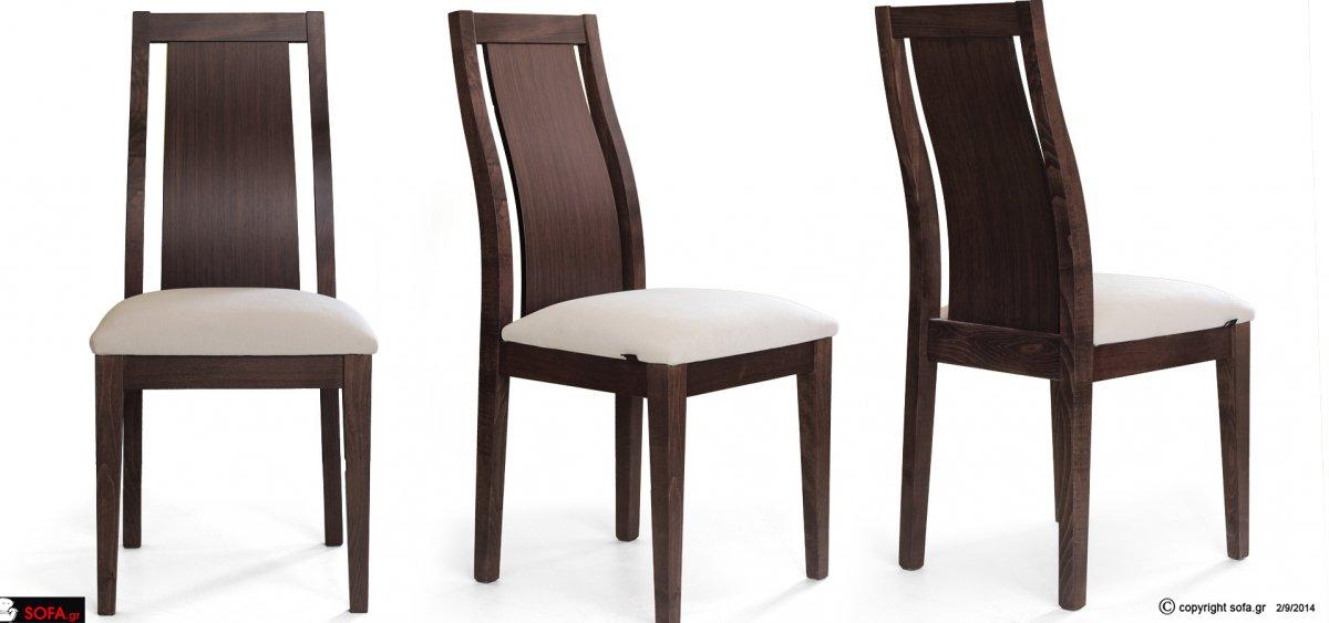 Καρέκλα τραπεζαρίας οικονομική με ανατομική πλάτη και καμπυλωτή πλάτη