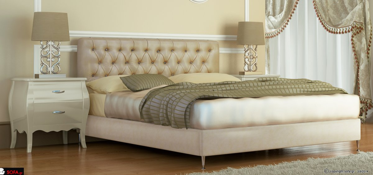 Barock - Fabric bed