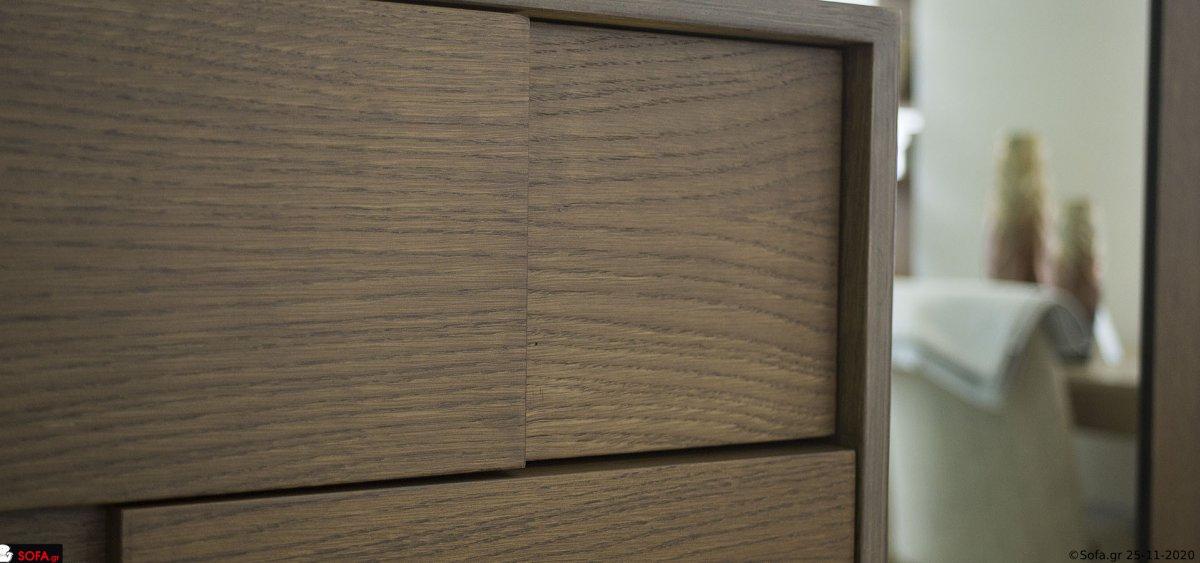 κρεβατοκάμαρα μασίφ sofa με 100% βαμβακερό ύφασμα και decape τεχνοτροπία