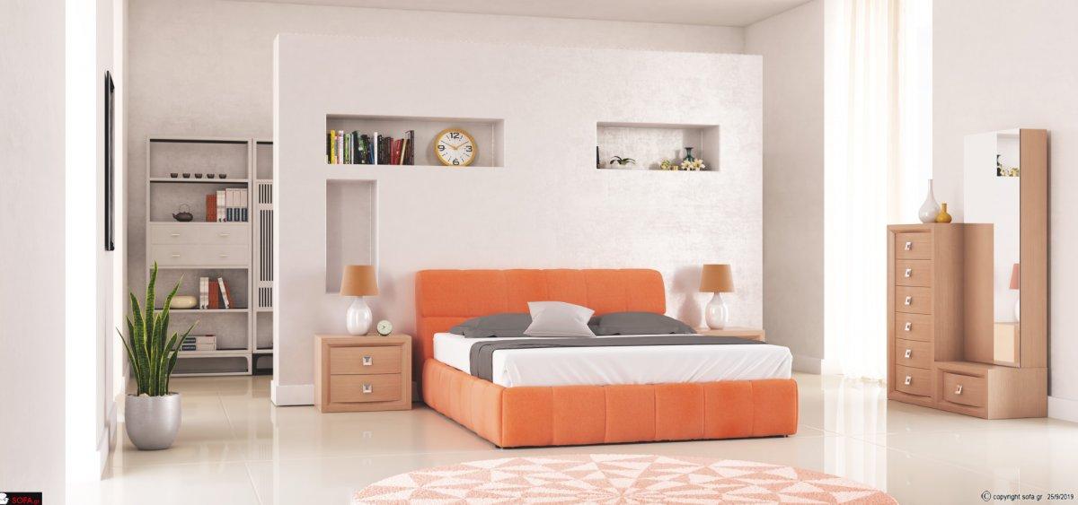 κρεβάτι με τεχνόδερμα