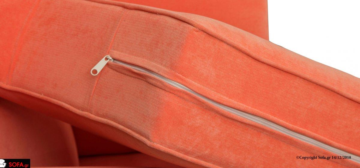 Πολυθρόνα με ανατομική πλάτη και καμπύλες σε μπράτσα και πλάτη με φουστα