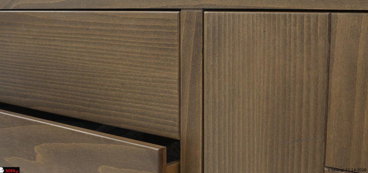 Μπουφές μοντέρνος με ψηλό πόδι απο μασίφ ξύλο σε ρετρό ύφος και σε εξαιρετική ποιότητα