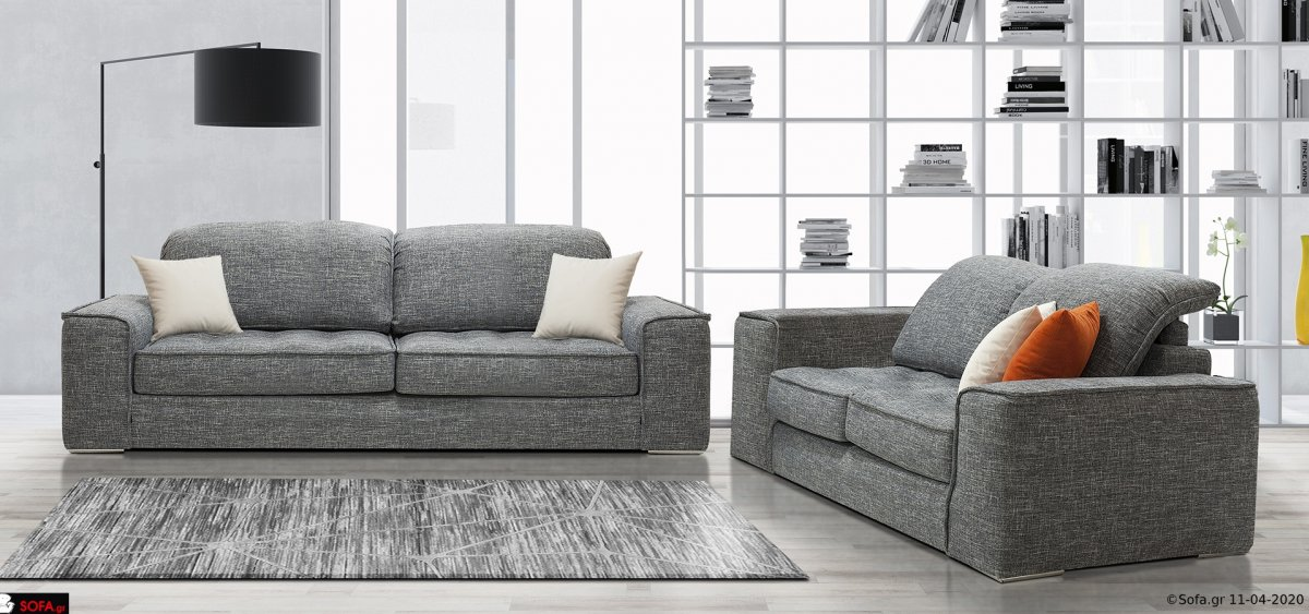 Σαλόνι με πλάτη ανάκλισης, καπιτονέ κάθισμα και αποσπώμενο ύφασμα
