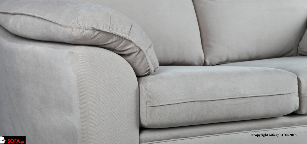διθέσιος καναπές κλασικός με ξύλινο ποδαράκι και ποιοτική κατασκευή