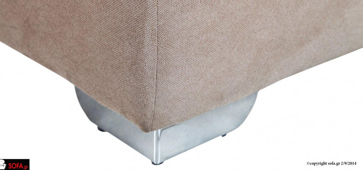 Μοντέρνος καναπές σε δυο κομμάτια με ραφή στα μαξιλάρια της πλάτης