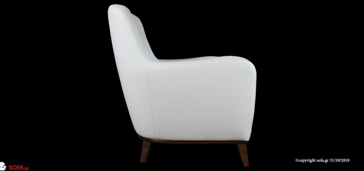 μοντέρνα πολυθρόνα με καμπύλη στη πλάτη