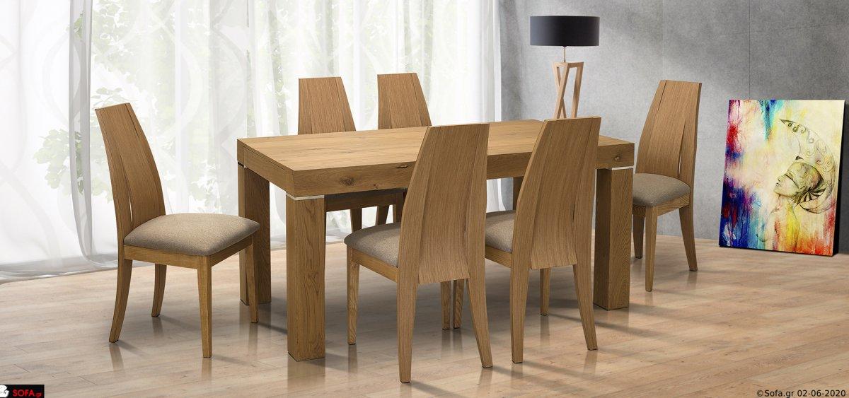 τραπέζι ρουστίκ με ινοχ λεπτομέριες