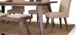 Τραπεζαρία μασίφ με παγκάκι και υφασμάτινες καρέκλες